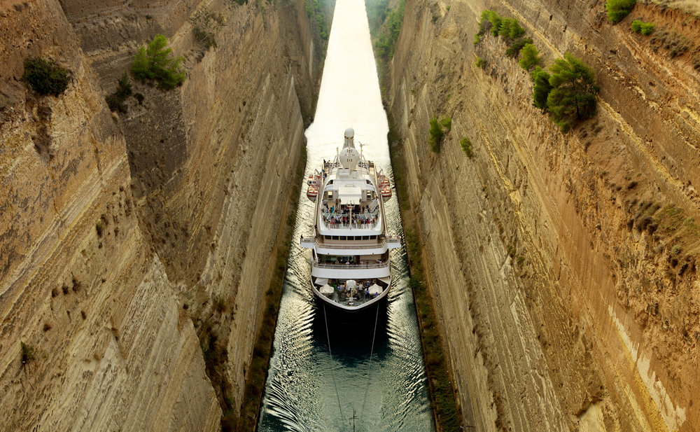 Corinth Canal (Transit), Greece mediterranean port destinations