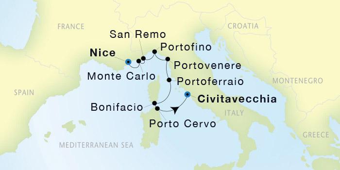 Seadream Yacht Club Nice To Civitavecchia Rome Seadream I