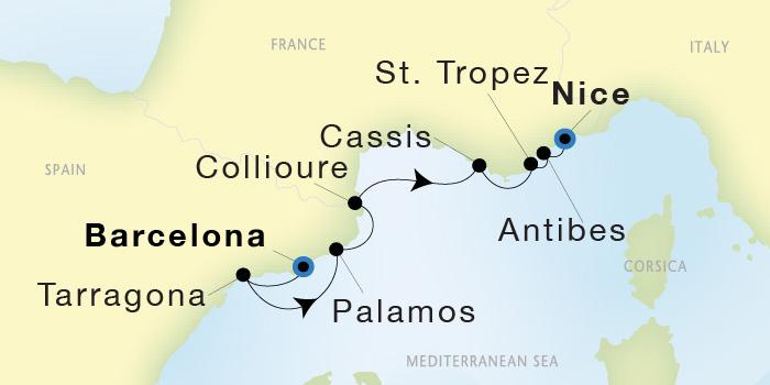 SeaDream Yacht Club: Barcelona to Nice - SeaDream I