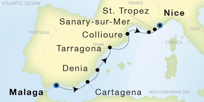 SeaDream Yacht Club: Malaga to Nice - SeaDream I on marseille italy, london italy, valencia italy, granada italy, ibiza italy, messina italy, vienna italy, geneva italy, mantua italy, athens italy, cologne italy, cartagena italy, seville italy, barcelona italy,