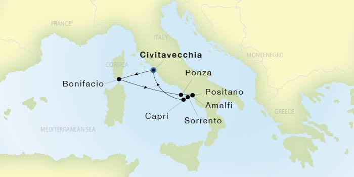 Map Of Spain Showing Malaga.Seadream Yacht Club Barcelona To Malaga Seadream I