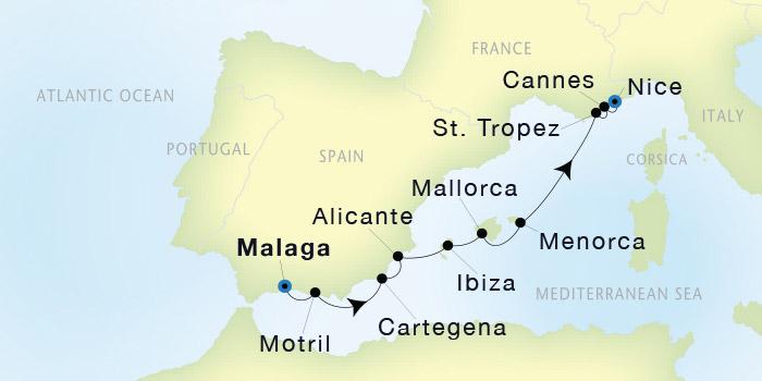 SeaDream Yacht Club Malaga to Nice SeaDream II