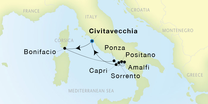 SeaDream Yacht Club Civitavecchia Rome to Civitavecchia Rome