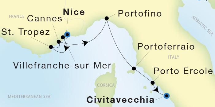 Seadream Yacht Club Nice To Civitavecchia Rome Seadream Ii