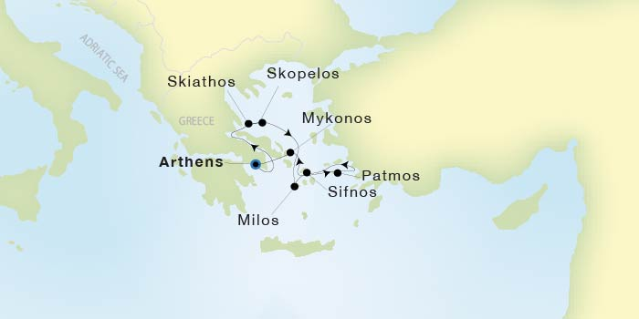 Seadream Yacht Club Athens Piraeus To Athens Piraeus Seadream Ii