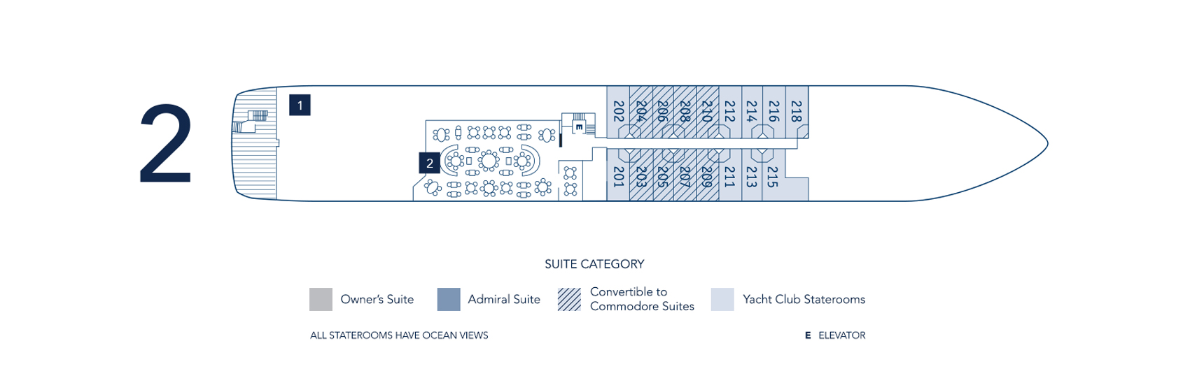 Seadream S Luxury Yacht Deck Plans